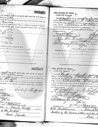Marriage Certificate Frederick Hoffman Mary Wolff